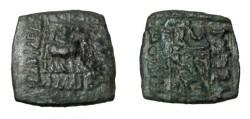 Ancient Coins - Indo Skythians Azilses Ca 57-35BC AE 1/4 Unit Senior 59/b