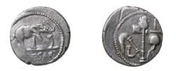 Ancient Coins - Julius Ceasar 49-44 BC AR Denarius 3.95gm CR 443/1 S 1399