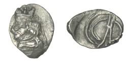 Ancient Coins - Persis Uncertain Kings 1st  Century AD AR Hemi-drachm Alram 613;  Mac 7486 T5