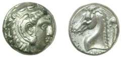 Ancient Coins - Sicily- Siculo-Punic –  ca 320-310 BC  AR tetradrachm