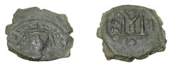 Ancient Coins - Heraclius 610-641AD AE Follis Constantinople Yr 11 Off β