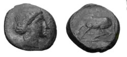 Ancient Coins - Thessaly Larissa 360-325 BC AE18