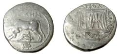 Ancient Coins - Illyria-Apollonia, AR Drachm, Niken (Moneyer), Autoboulou (Magistrate), Class ALc2b