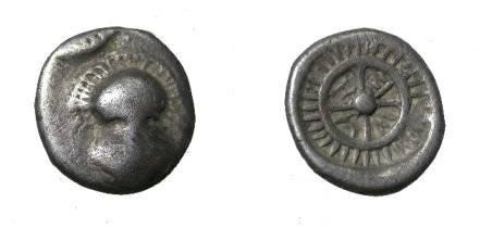 Ancient Coins - No. Greece Mesembria 450 - 350 BC  AR Diobol