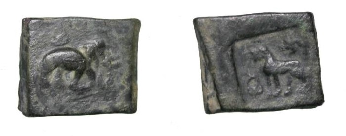 Ancient Coins - Northern India Indo-Greek Period Pushkalavati