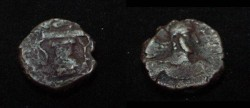 Ancient Coins - The Kushan Shaws Kabad AE 16 M 1294 AD 271-356