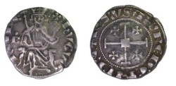 World Coins - Crusaders - Cyprus Ca 1324-1359 Hugh IV Silver Gros