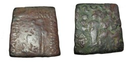 Ancient Coins - Indo-Skythian Mauers Ca 90-57 BC AE Penta Chalkon  M# 2203 S!