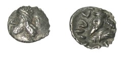 Ancient Coins - Persis Oxarthes son of dartius 1st century BC AR Obol Compare to S# 6211