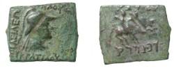 Ancient Coins - Bactria Eucratides Ca 171 - 135 BC AE Hemi-obol