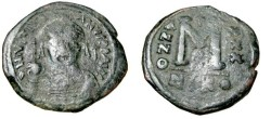 Ancient Coins - Justinian I 527-565 AE Follis Nicomedia