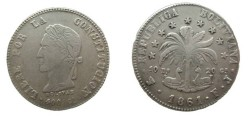 World Coins - Bolivia 8 Soles 1861 F.J.. KM# 138.6