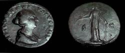 Ancient Coins - Faustina Jr AE Sestertius