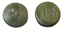 Ancient Coins - PONTUS, Amisos. Time of Augustus. Æ 24mm (12.91 gm). Diademed female