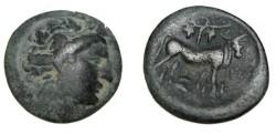 Ancient Coins - Eubia, Histiaia AE 18 350-340 BC S-2499