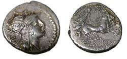 Ancient Coins - D JUNIUS SILANUS AR silver denarius. Struck 91 BC.