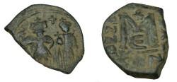 Ancient Coins - Heraclius 610-641AD AE Follis Constantinople S-810