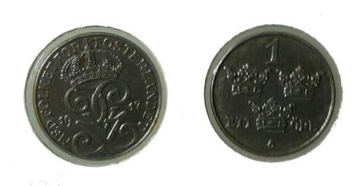 World Coins - Sweden 1 Ore 1917 Unc WW I Issue