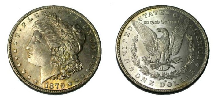 US Coins - 1879-S Morgan Dollar