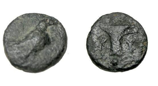 Ancient Coins - Asia Minor Aiolis Kyme AE 11 mid 4th Century BC S-4185