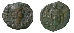 Ancient Coins - Tranqulilina Wife Gordian Nicaea 241-244 AD AE 20