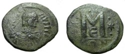 Ancient Coins - Byzantine Justin I 518-527 AD  AE Follis