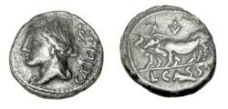 Ancient Coins - L Cassius Caecianus 102 BC AR Denarius