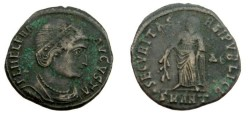 Ancient Coins - Helena 328-330 AD Mother of Constantine the Great Securitas Relpvlicae AE3