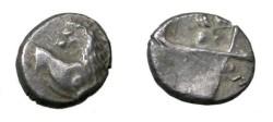 Ancient Coins - Greece Cherronesos 400 - 350 BC AR Hemiobol