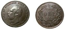 World Coins - 1870 1 Ore KM 705