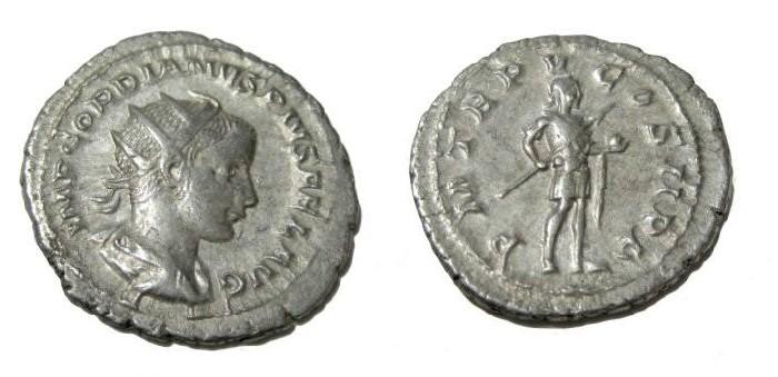 Ancient Coins - Gordian III 238 - 244 AD AR Antoninianus