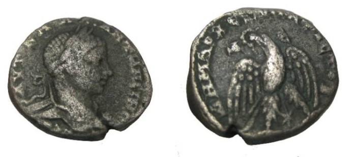 Ancient Coins - Elagabalus 218-222AD Syria Antioch Bil. tetradrachm S-3096