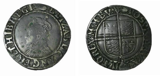 World Coins - England Elizabeth I Hand Shilling