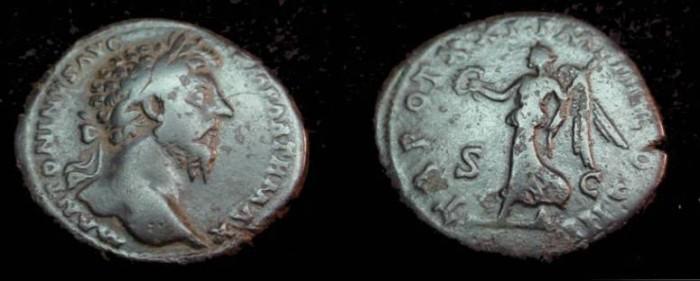 Ancient Coins - Marcus Aurelius 139-180AD Ae Sestertius