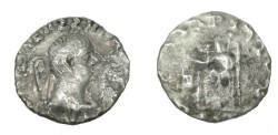 Ancient Coins - Bactria Hermaios Ca 40-1 BC AR Tetradrachm S# 7736