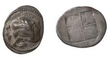 Ancient Coins - Thrace Akanthos 424 - 380 BC AR Tetraobol