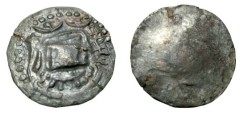 Ancient Coins - Turko Hepthalites 7th - 8th Century AD Bil Drachm (uniface) Unpublished 24mm 5.77gm