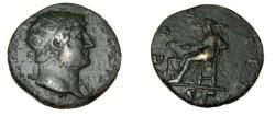 Ancient Coins - Hadrian 117-138 AD AE Dupondius COSIII RIC 657