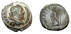 Ancient Coins - Septimus Severus Denarius Neptune with Trident 193- 211 AD