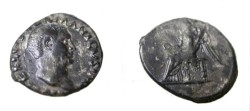 Ancient Coins - Vitellius AR Denarie Victory Std L