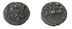 Ancient Coins - C. Terentius Lucanus. 147 B.C. AR denarius