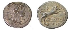 Ancient Coins - L. THORIUS BALBUS. Denarius, Rome, 105 BC (3.90 g, 21 mm).