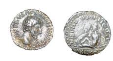Ancient Coins - Roman Imperial Lucius Verus 161-169 AD AR Denarius 3.43 gm Armenia Std Left