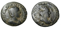 Ancient Coins - Greece Pisidia Antioch Otacilia Severa Bust Tyche