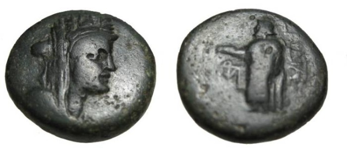 Ancient Coins - Asia Minor Lydia, Sardis AE 21 2 nd- 1st Cent BC S-4731