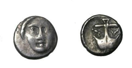 Ancient Coins - Thrace , Apollonia Pontika AR Diobol 3rd Cent BC SNG 41 - 48