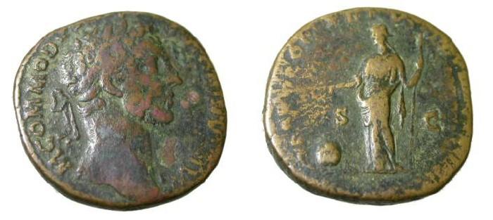 Ancient Coins - Commodus 177-192 AD AE Sestertius