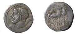 Ancient Coins - L Memmius Denarius. 109-108 BC.