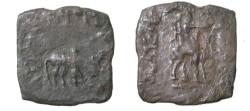 Ancient Coins - Indo Skythians Azes I Ca 57BC-35BC AE Hexa-Chalkon King on Camel