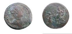 Ancient Coins - Roman Egypt Trajan AE1 Drachm Yr 17 113/14 98-117 AD